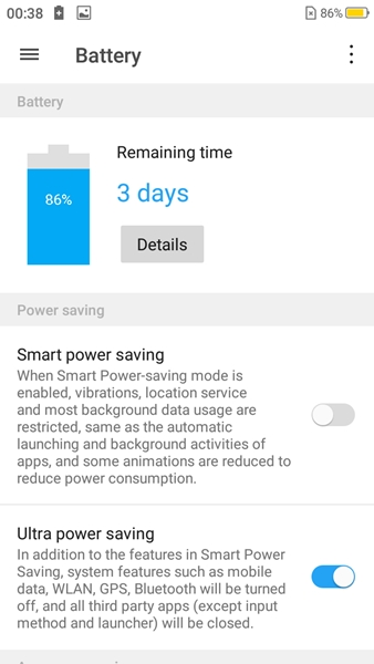 Ultra power saving