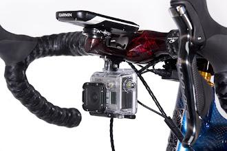 Photo: Calfee BarStem_integrated Garmin and GoPro mounts