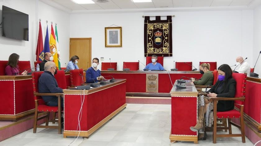 Reunión de la Junta de Gobierno Local en Adra.
