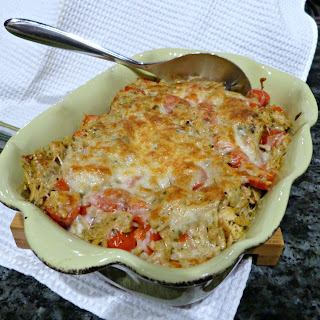 Easy Baked Caprese Orzo with Chicken