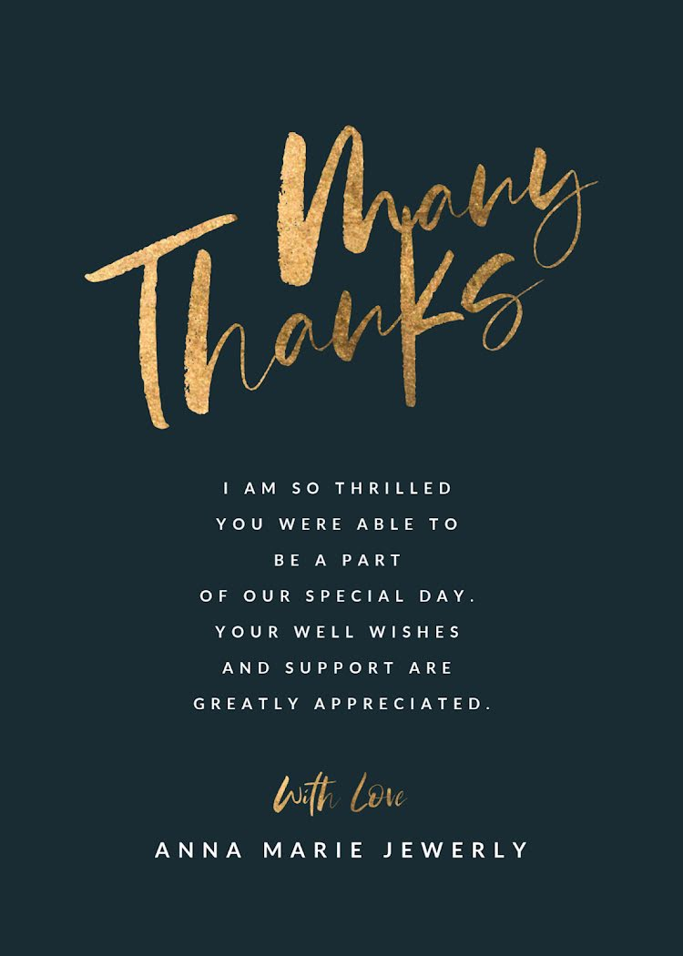 Merry Thanks - Thank You Card Template