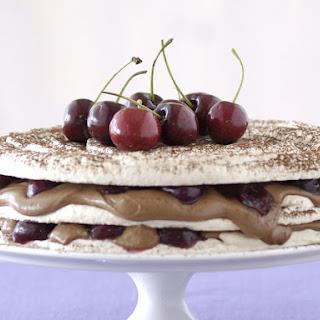 Chocolate Cherry Dacquoise.