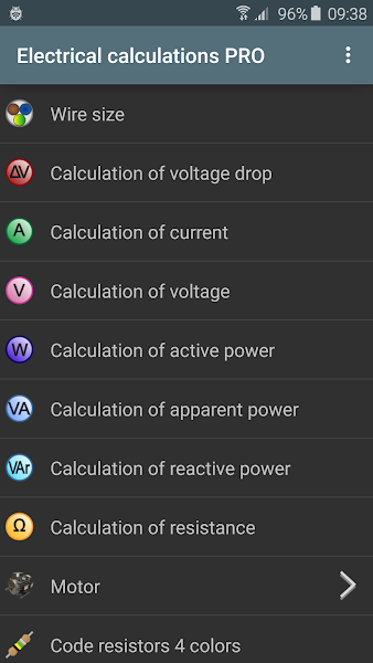 Download APK: Electrical calculations PRO v5.1.5