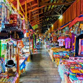Gerai Pekan Nabalu, Kota Kinabalu, Sabah by ChenLin Kng - City,  Street & Park  Markets & Shops ( hdr, souvenir, endless, sabah, stalls,  )