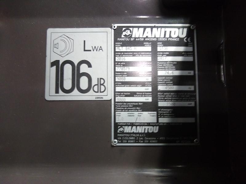 Photo de MANITOU MLT 845 100D H LSU ST3B S1