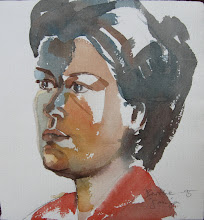 Photo: portrett,akvarell. sonja jensenPE