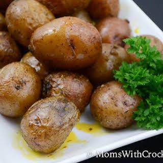 Simple Crock Pot Ranch Potatoes.