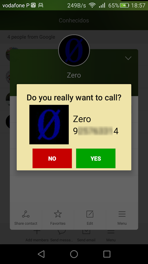 Easy call blocker- screenshot
