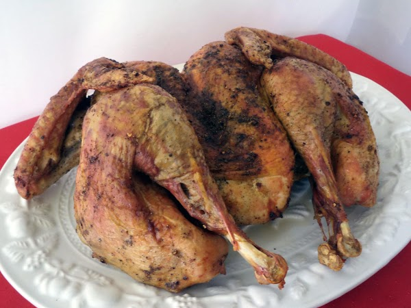 Allow turkey to sit for at least 20 minutes before cutting to allow juices...