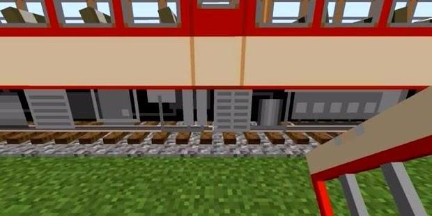 Mod vlaku pro Minecraft - náhled