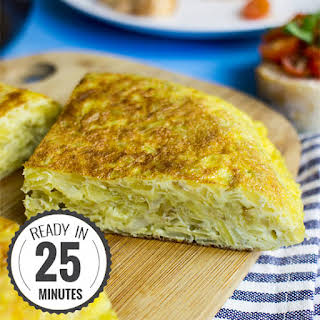 Quick Spanish Omelette perfect for breakfast!.