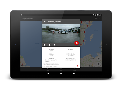 Superchargers for Tesla, incl destination chargers Screenshot