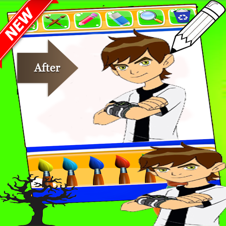 Ben 10 Coloring game 1.0 screenshots 3