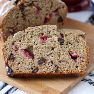 Strawberry Chocolate Chip Graham Banana Bread
