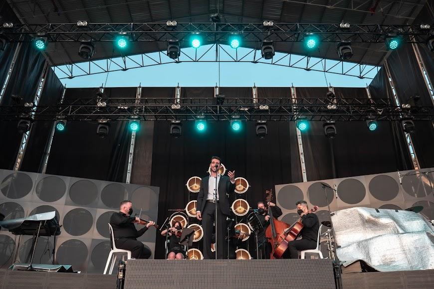 El tenor almeriense sobre el escenario del Marble Music Fest