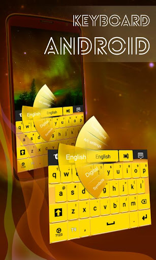 鍵盤的Android黃色
