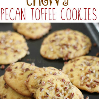 Chewy Pecan Toffee Cookies