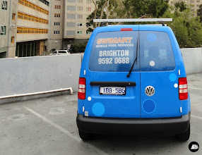 Photo: Swimart Volkswagen Caddy Full Vehicle Wrap | rear window and tailgate graphics