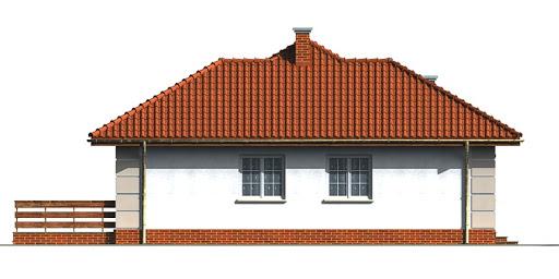 Dom przy Łabędziej - Elewacja lewa