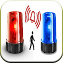 Siren and alarm sounds icon