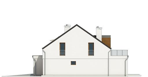 Makolągwa z garażem 1-st. bliźniak A-BL1 - Elewacja prawa