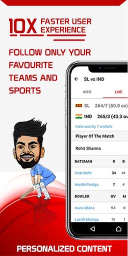 SK Live Cricket Match & Football Scores & News 1.2.8 screenshots 1