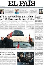 Photo: El Rey hace público su sueldo y el Gobierno congela el salario mínimo, temas en nuestra portada de hoy http://www.elpais.com/static/misc/portada20111229.pdf