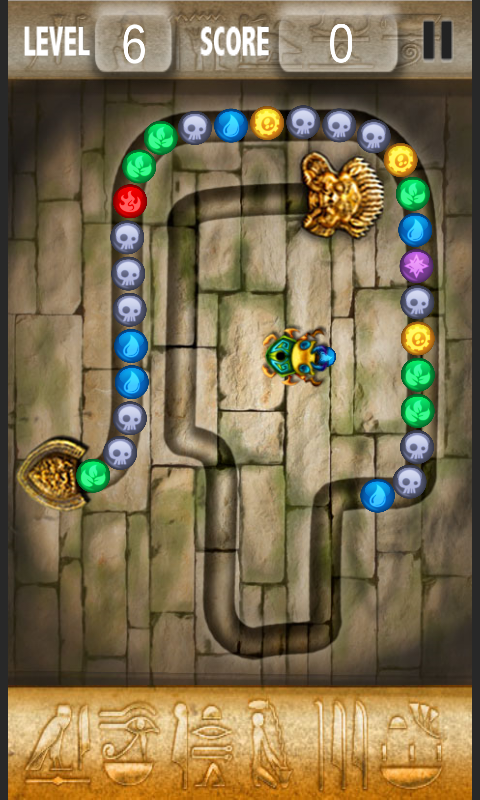 Скриншот Balls Blast цветная змейка.