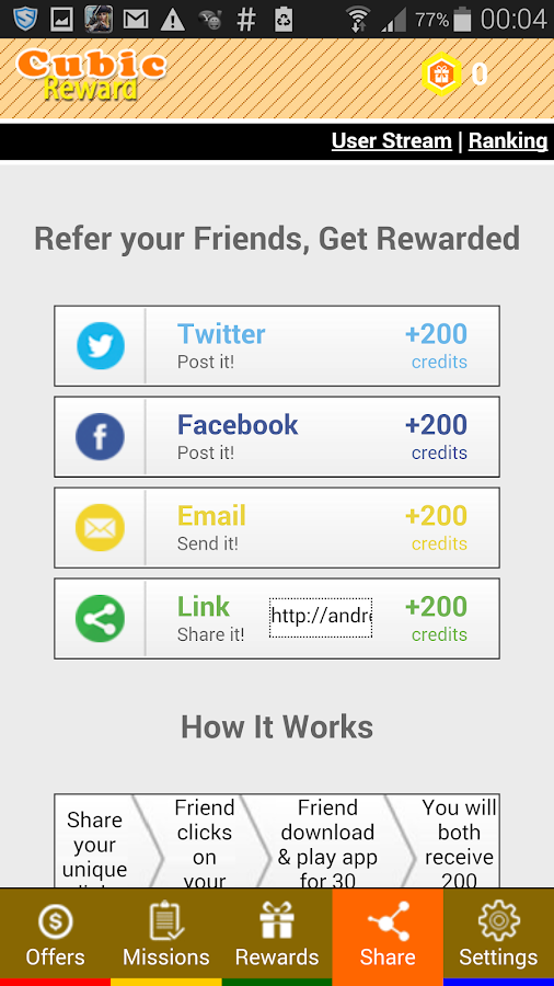 Cubic Reward - Free Gift Cards- screenshot