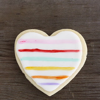 Painted Heart Sugar Cookies