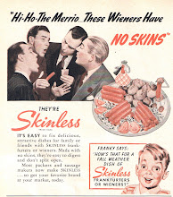 Photo: When I was a kid I hated wieners with skins.