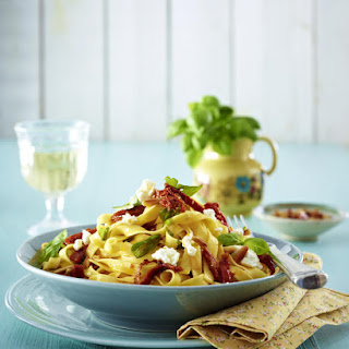 Fettucine with Goat Cheese.