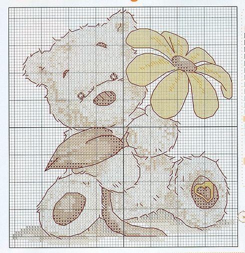 Schemi punto croce orsetti del cuore for Orsetti a punto croce schemi