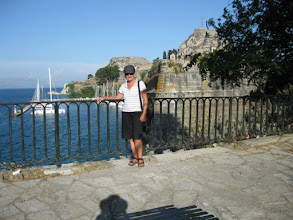 Photo: Denny outside old fort Corfu