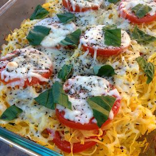 Tomato Basil Spaghetti Squash Bake