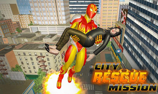 Flame Hero Flying Superhero City Rescue Mission 1.0.5 Cheat screenshots 3