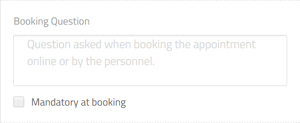 question while booking