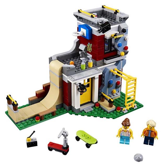 Contenido de Lego® 31081 Parque de Patinaje Modular
