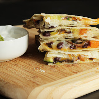 Black Bean and Sweet Potato Quesadilla.
