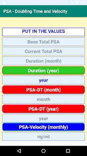 Download PSA- Calculations of Doubling Time and Velocity For PC Windows and Mac apk screenshot 1