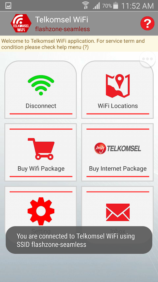 Telkomsel WiFi- screenshot