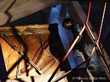 Photo: Mirko Siakkou Flodin, Aktionskünstler, beim Filmdreh des Piano in der Kunst, Zombi Klavier in der WLZ in Ravensburg, Foto von Stefan Werz