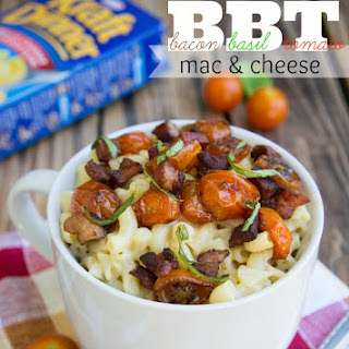 Bacon, Basil, Tomato Mac and Cheese