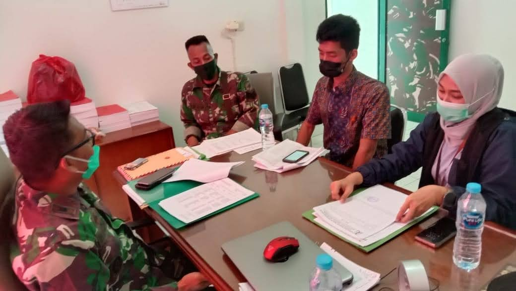 Denzibang 1/Stg Terima Kunjungan dari BP2P Kalimantan 1, Dirjen Perumahan Kementerian PUPR Guna Pendataan Perumahan