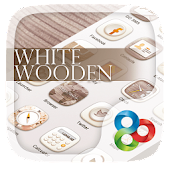 White Wooden GO Launcher Theme