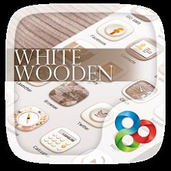 White Wooden GO Launcher Theme