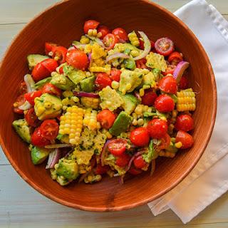 Tomato, Corn and Avocado Salad with Cilantro Lime Vinaigrette Recipe