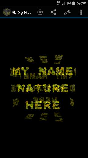 3D My Name Nature fonts LWP