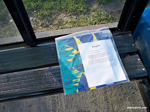 Photo: Inspire #6 - February 2009 - Easter Egg 04/12/09 - Bus Stop at UPS and Daily Record, Jefferson Rd., Parsippany, NJ