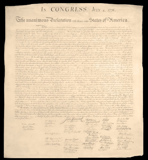 Engraved Copy of the 1776 Declaration of Independence, Commissioned by John Quincy Adams, Printed 1823 - Adams, John Quincy, 1767-1848 and Stone, William James, 1798-1865 - Google Arts & Culture